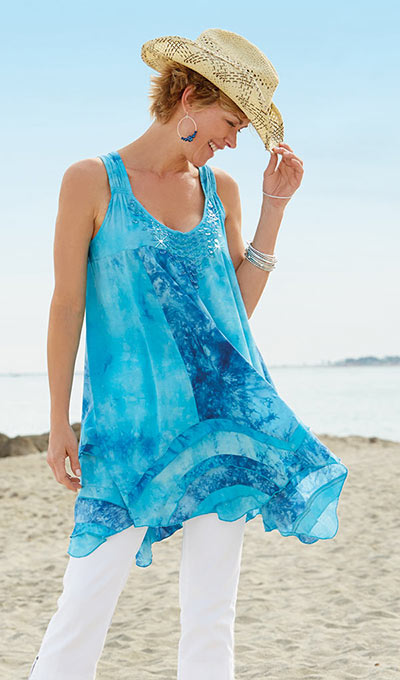 Dramatic Tie-Dyed Top