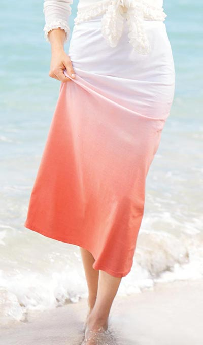 Ombré Knit Skirt