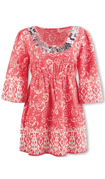 Batik Sequined Top
