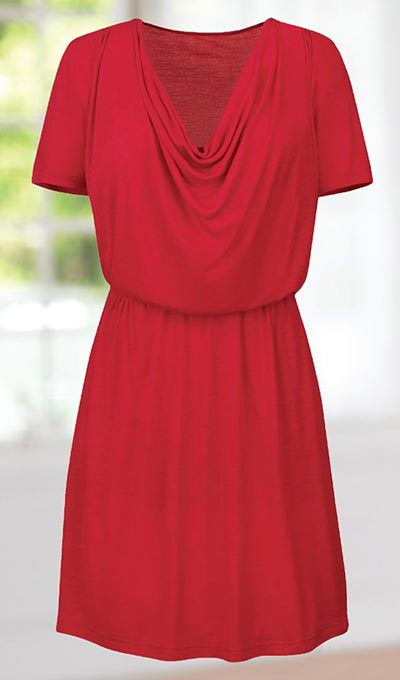 Flirty Draping Dress