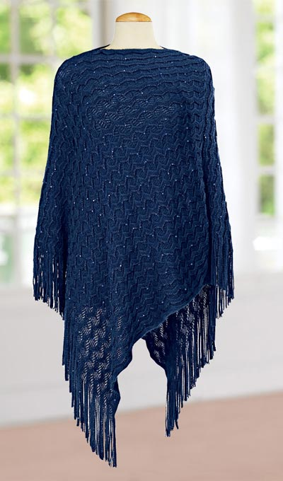 Sequined Embellished Poncho