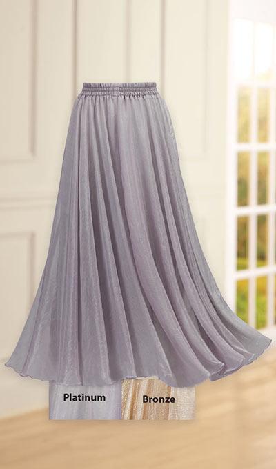 Shimmer Organza Skirt