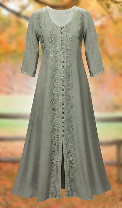 Alluring Acid-Washed Dress