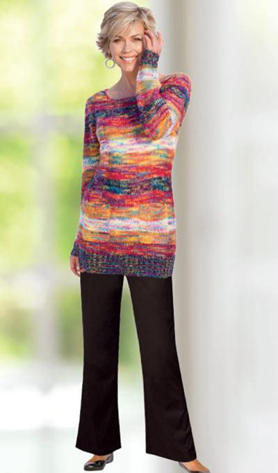 Multi-Colour Sweater Tunic