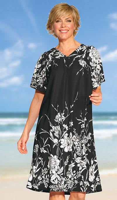 Black & White Floral Lounger