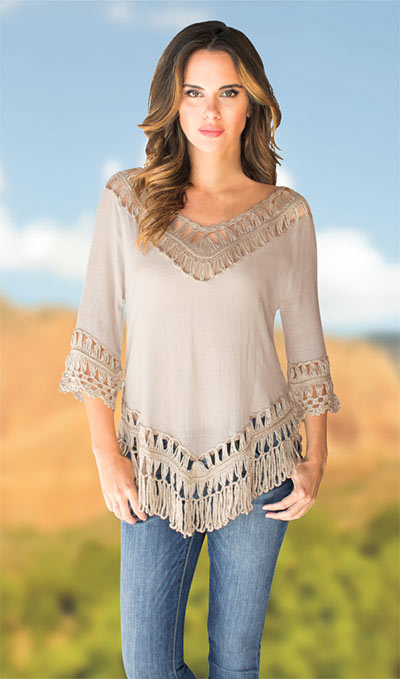 Hand Crocheted Fringe Top