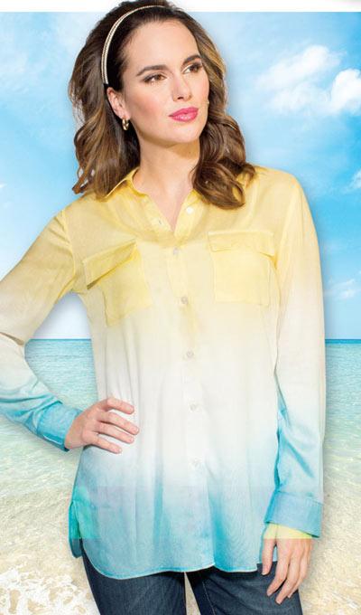 Tie-Dyed Ombré Shirt