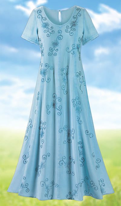 Soft & Flowy Embroidered Dress