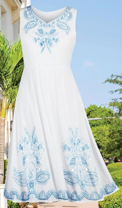 Romantic Embroidered Dress