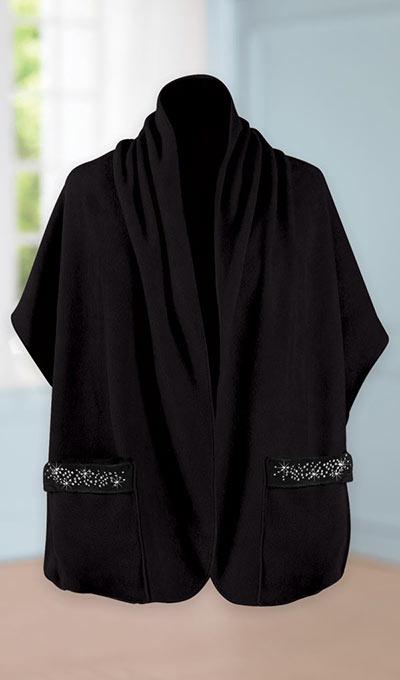 Pocket Shawl with Embellished Pockets