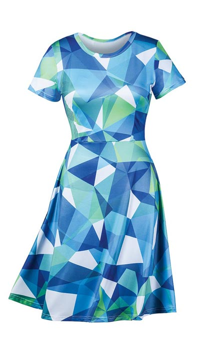 Geometric Delights Dress