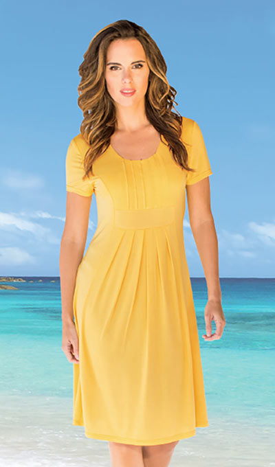Flattering Pleated Dress