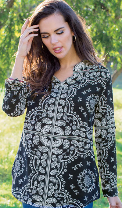 Beautiful Bandana Blouse