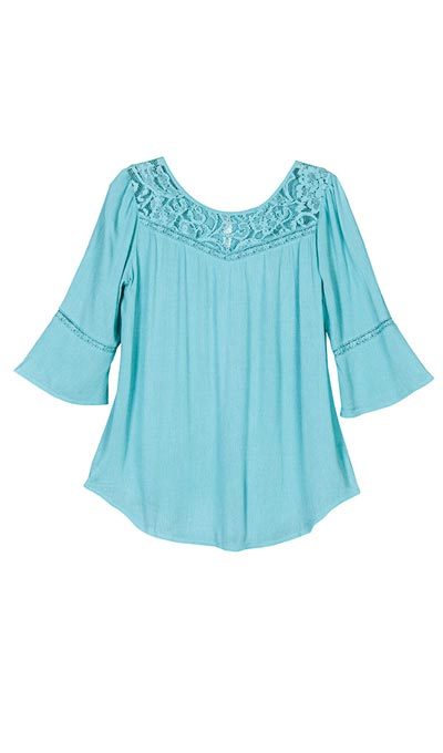 Lavish Lace Yoke Blouse
