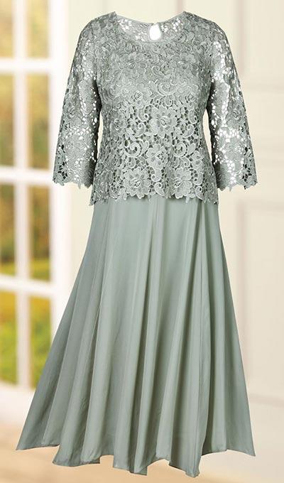 2-pc. Lace Popover Dress