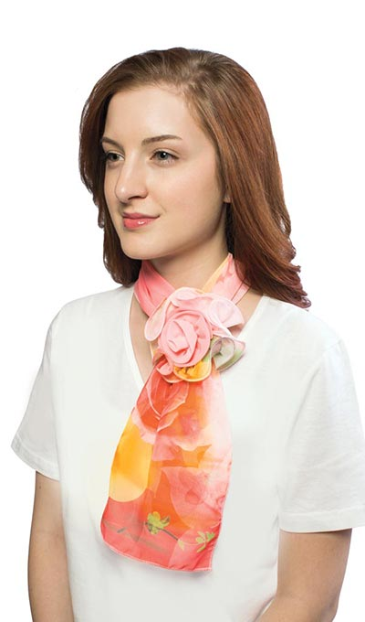 Pastel Watercolour Rosette Scarf
