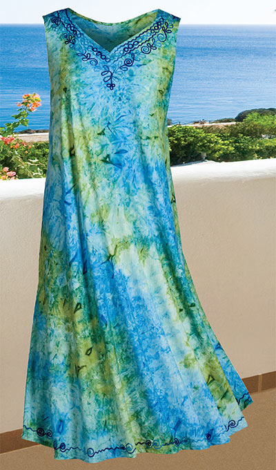 Tie-Dyed Swing Dress
