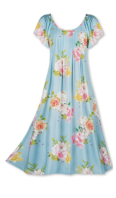 Pintucked Floral Dress