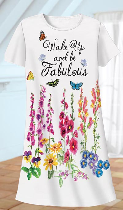 Wake Up and Be Fabulous Sleep Shirt