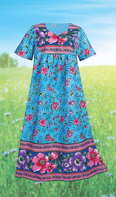 Wildflower Border Patio Dress