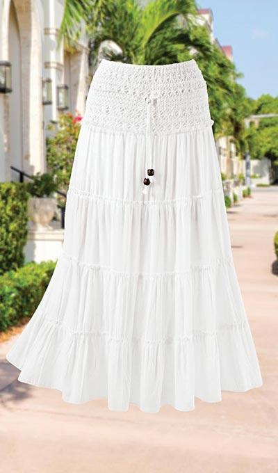 Sea Breeze Crocheted Skirt