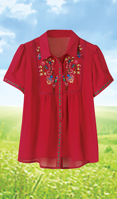 Brilliant Boho Embroidered Top