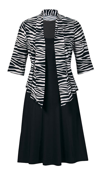 Zebra Print Dress Set