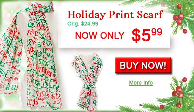 Holiday Print Scarf
