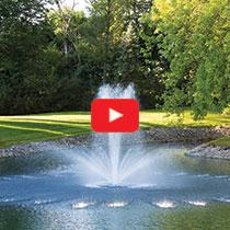 PondSeries™ 1 HP Fountain - Crown & Trumpet Spray Pattern