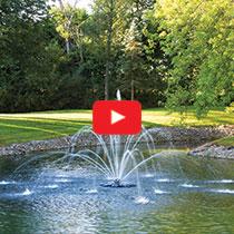 PondSeries™ 1 HP Fountain - Double Arch & Geyser Spray Pattern