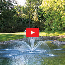 PondSeries™ 1 HP Fountain - Double Arch Spray Pattern