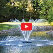 PondSeries™ 1 HP Fountain - Single Arch Spray Pattern