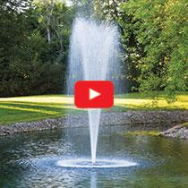PondSeries™ 1 HP Fountain - Trumpet Spray Pattern