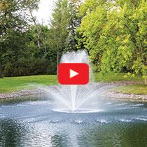 PondSeries™ 2 HP Fountain - Crown & Trumpet Spray Pattern