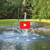 PondSeries™ 2 HP Fountain - Double Arch & Geyser Spray Pattern