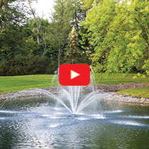 PondSeries™ 2 HP Fountain - Double Arch Spray Pattern