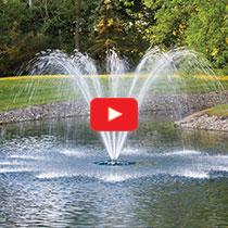 PondSeries™ 2 HP Fountain - Single Arch Spray Pattern