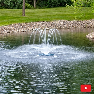 PondSeries Crown and Arch Fountain 1-2 HP