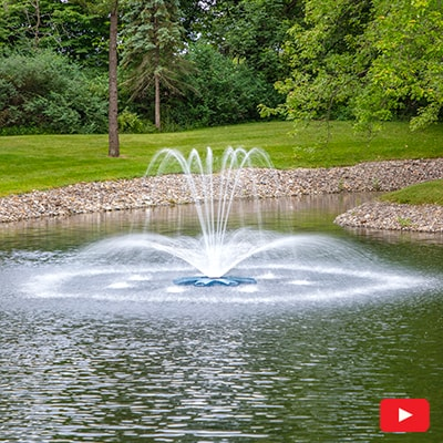 PondSeries Crown and Arch Fountain 1 HP