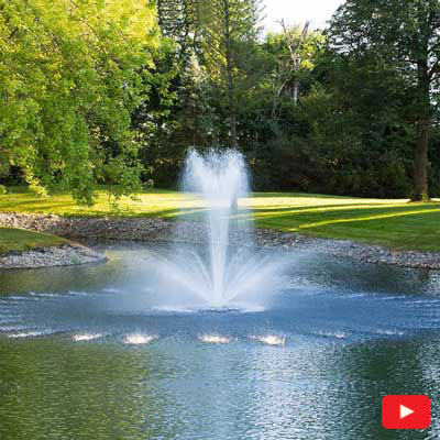 PondSeries Crown and Trumpet Fountain 1 HP