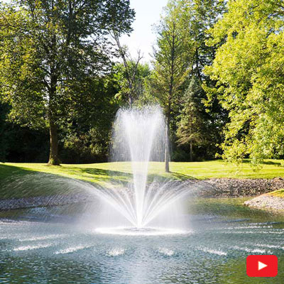 PondSeries Crown and Trumpet Fountain 2 HP