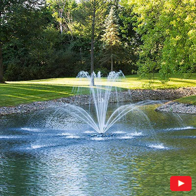 PondSeries Double Arch Fountain 1 HP