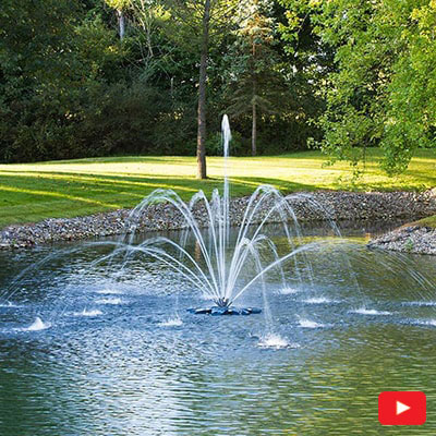 PondSeries Double Arch and Geyser Fountain 1 HP