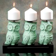 Owls Candle Holder