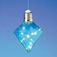 Hanging LED Diamond Light Bulb - Blue