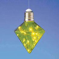 Hanging LED Diamond Light Bulb - Green