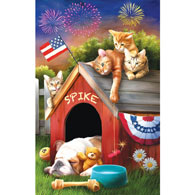 4th of July Mischief 300 Large Piece Jigsaw Puzzle