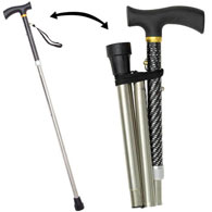 Stylish Foldable Walking Cane - Diamonds