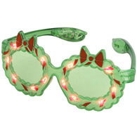 Holiday Wreath LED Light Up Glasses