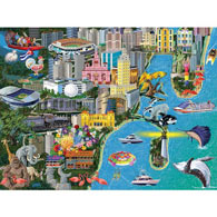 Miami 300 Large Piece Jigsaw Puzzle